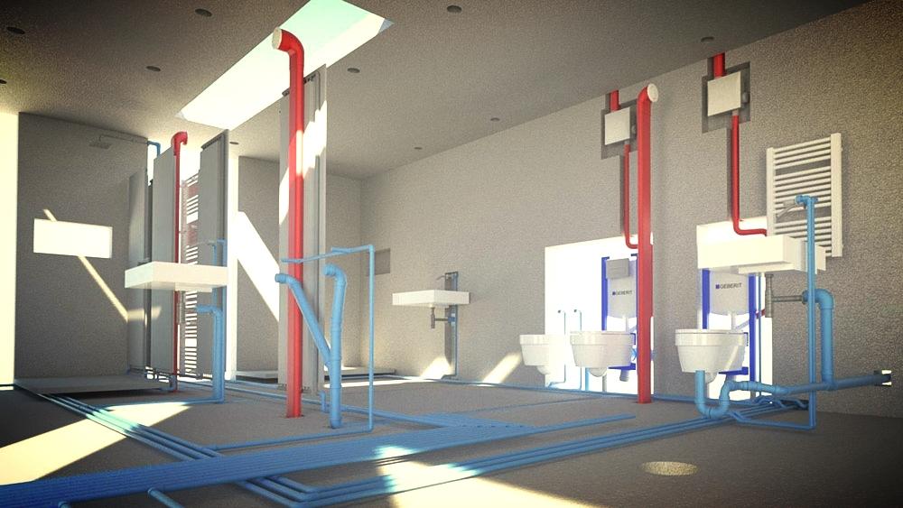Usklajevanje arhitekture, statike, strojnih in elektro inštalacij v enem BIM modelu.