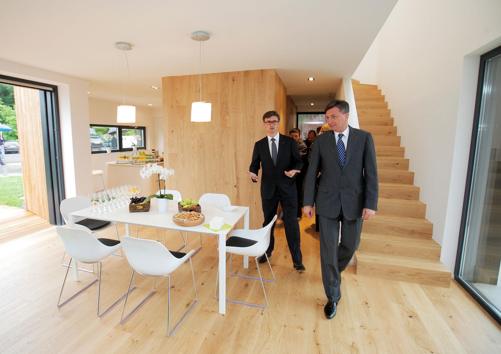 Prvo aktivno hišo v Sloveniji je otvoril predsednik države g. Borut Pahor.