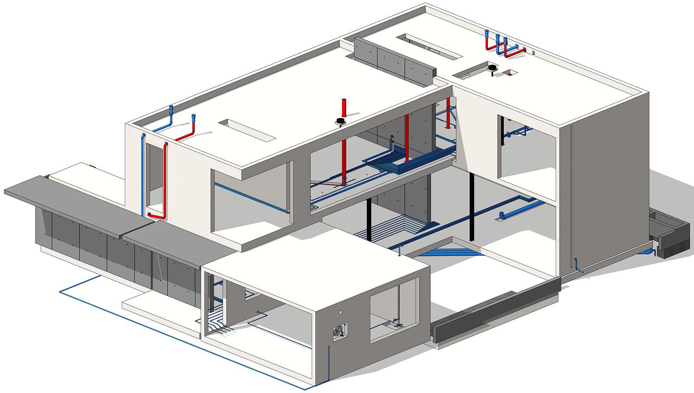 3D BIM modeliranje strojnih inštalacij