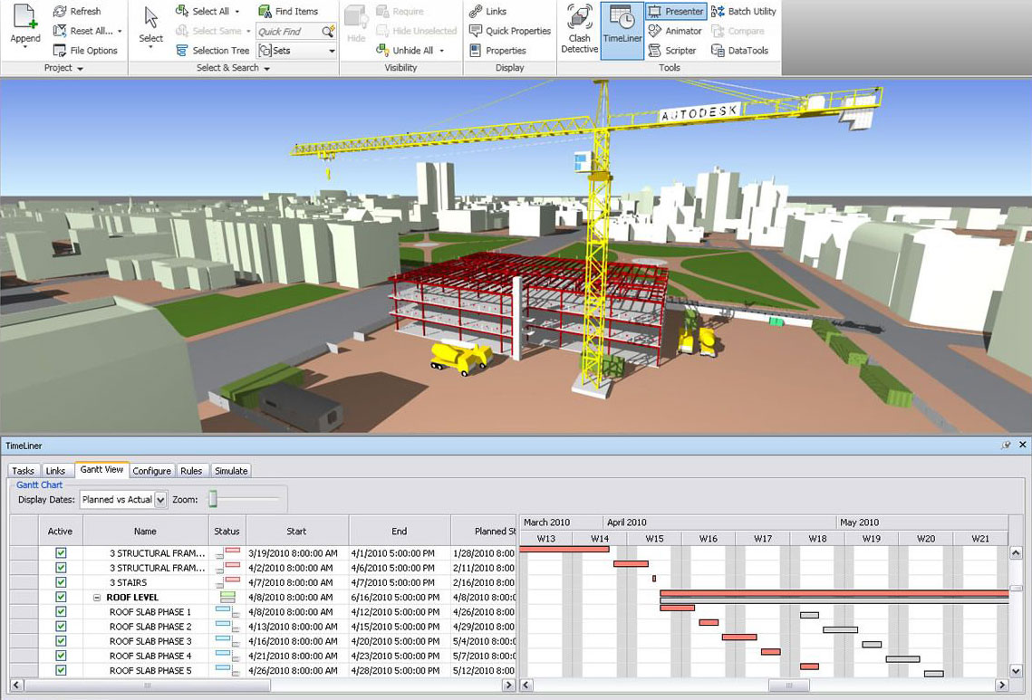 Terminski plan - Autodesk Navisworks