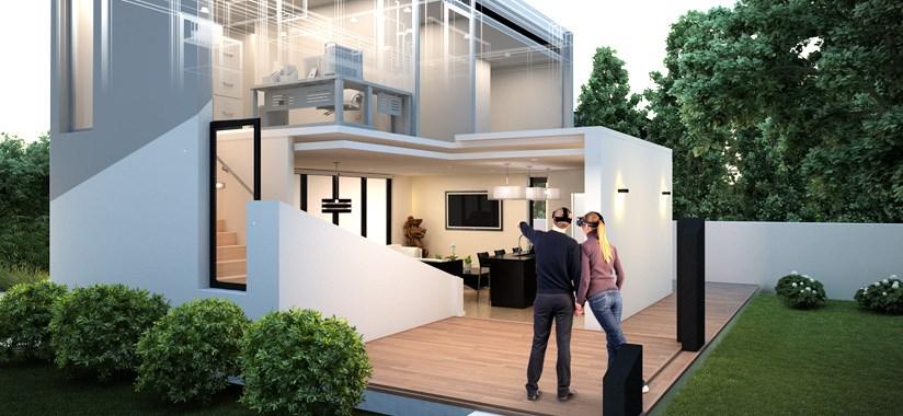 Sprehod skozi hišo v virtualnem svetu.