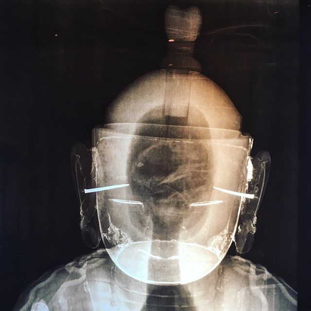 #xray of a Buddha from the #harnmuseum