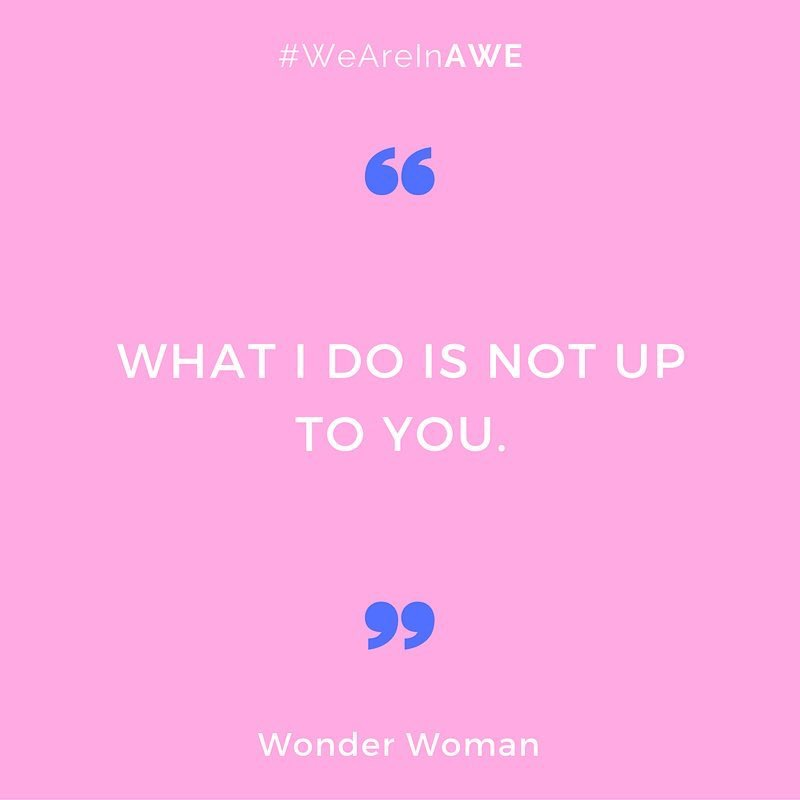 Quote by Wonder Woman