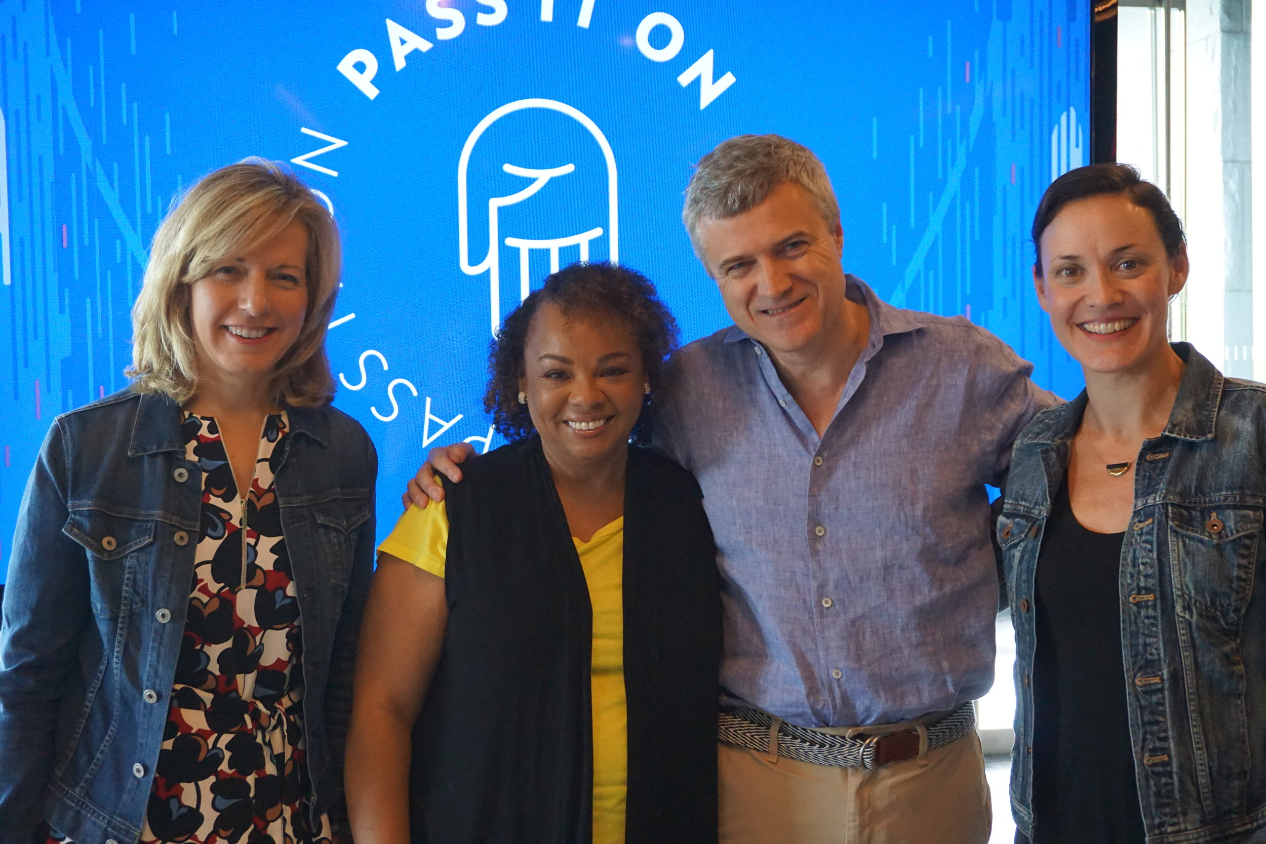 Judy pictured with other senior leaders at WPP, including Mark Read (on Judy's right), who is her boss and the Global CEO at WPP.