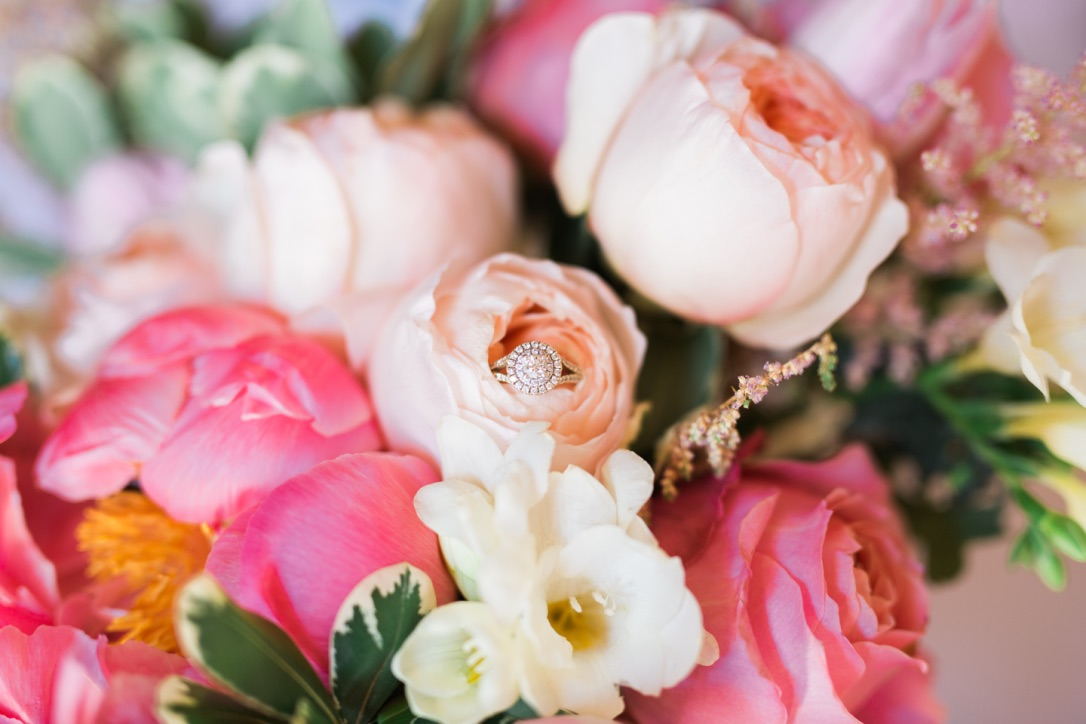 My Wedding Flowers | peonies, garden roses, pittosporum, romantic, feminine pink | loveshyla.com