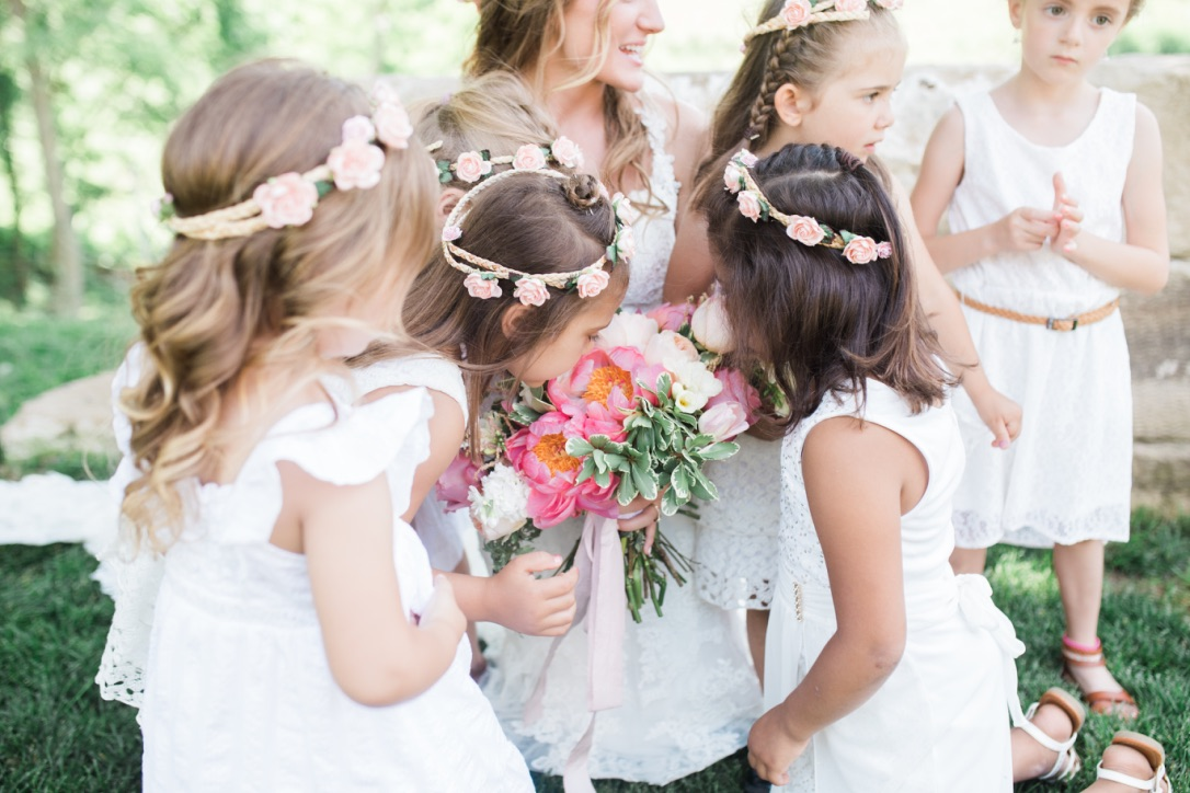 Our Wedding | Spring, June, whimsical, meadow, blush, pink, coral, soft green, ivory, romantic, barn, gold, classic, bridals, bridesmaid, dress, ring, inspiration, planning | Loveshyla.com