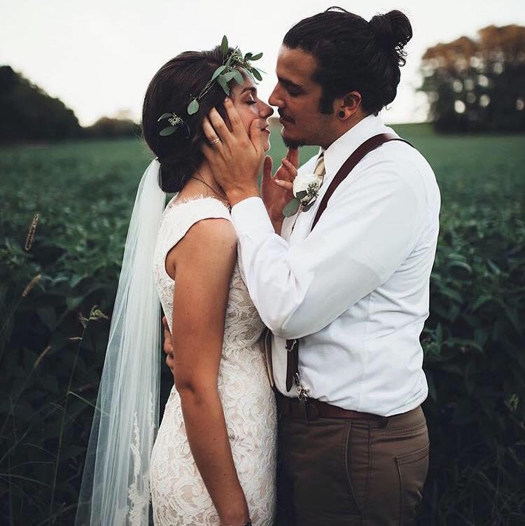 Josh & Hannah Indie Wedding Flowers by Love Shyla