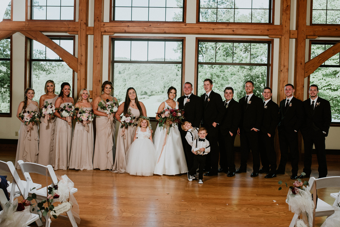 A Nostalgic Old-World Glam Wedding | Stonewall Resort, WV | Wooden Cathedral Wedding | Soft, Blush, Muted, Mauve, Cafe Au Last Dahlia, Flowers, Elevated Centerpieces | Florals by Loveshyla.com