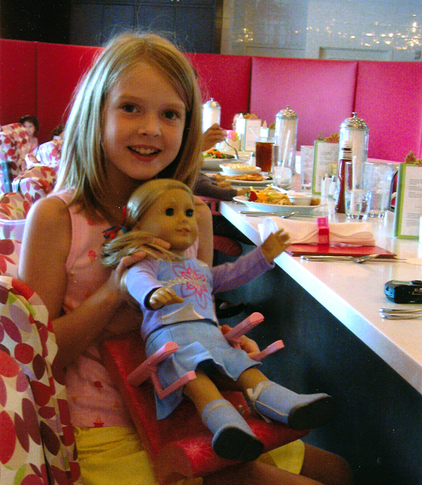 Katie and her American Girl Doll