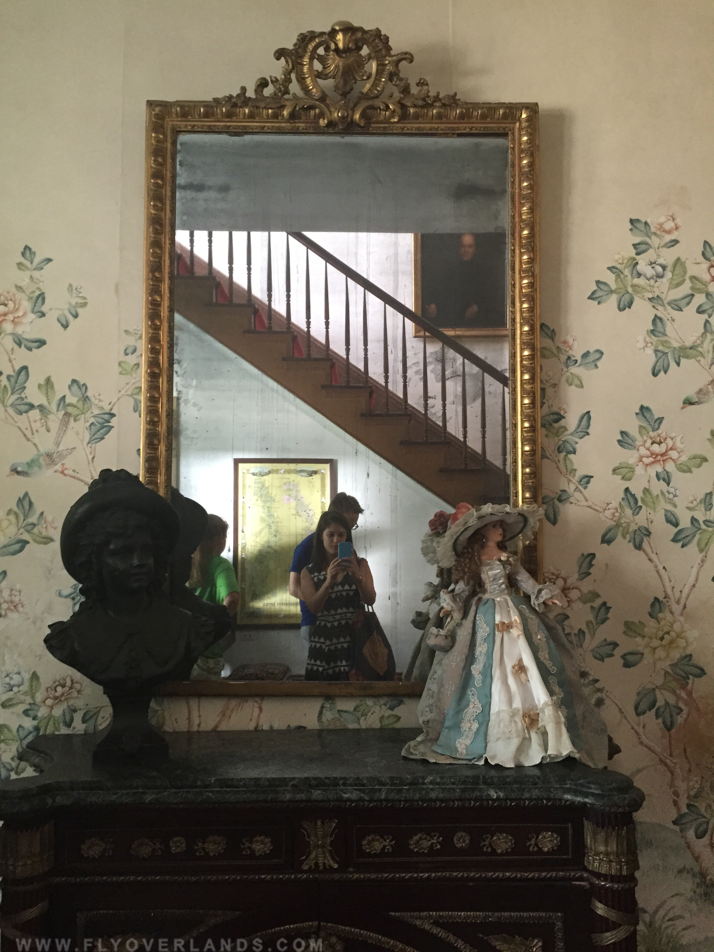 Some see dark shapes or shadows appear in their second take.   ( The Myrtles Plantation -Francisville, Louisiana)