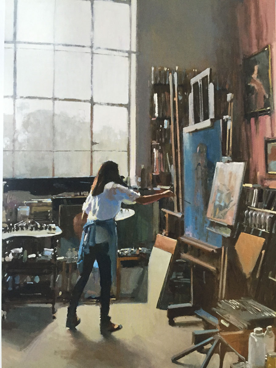 The Artist at Tite street, painting by Paul Rafferty.