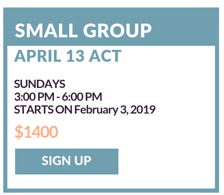 - Our small groups are designed to engage. Taught by expert tutors and capped at a 6 student maximum, this is an interactive environment that provides an opportunity to tackle tough questions outside the range of a standard ACT classroom curriculum.