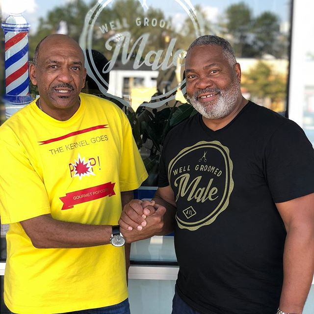"Happy to regular client Tony Vaughn at the shop Saturday. Veteran Actor with a new movie- the hate you give- came out Friday. Tony is also the owner of ""the Kernal goes pop"" popcorn."