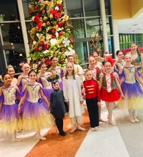 Nutcracker dancers performed at the AI DuPont Children's Hospital in December 2018.