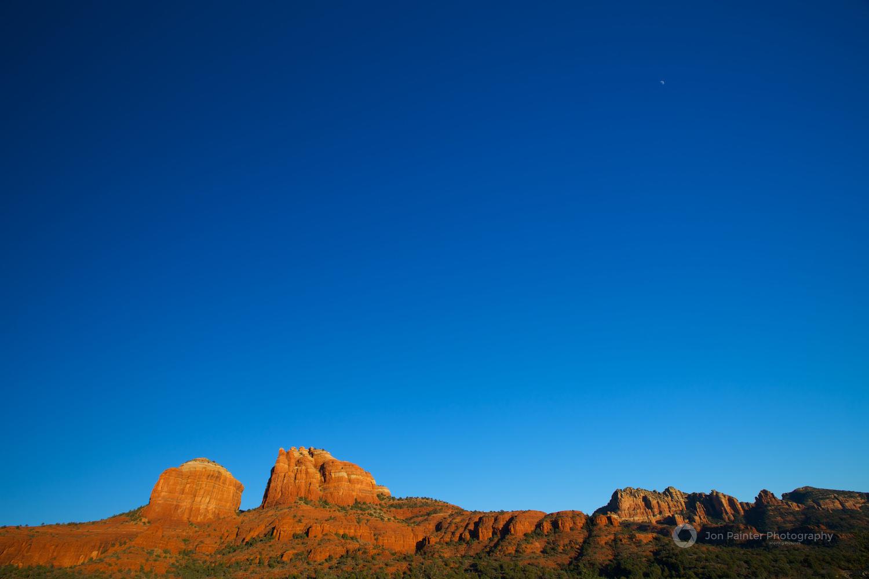 Moonrise over Cathedral Rock, Sedona, Arizona