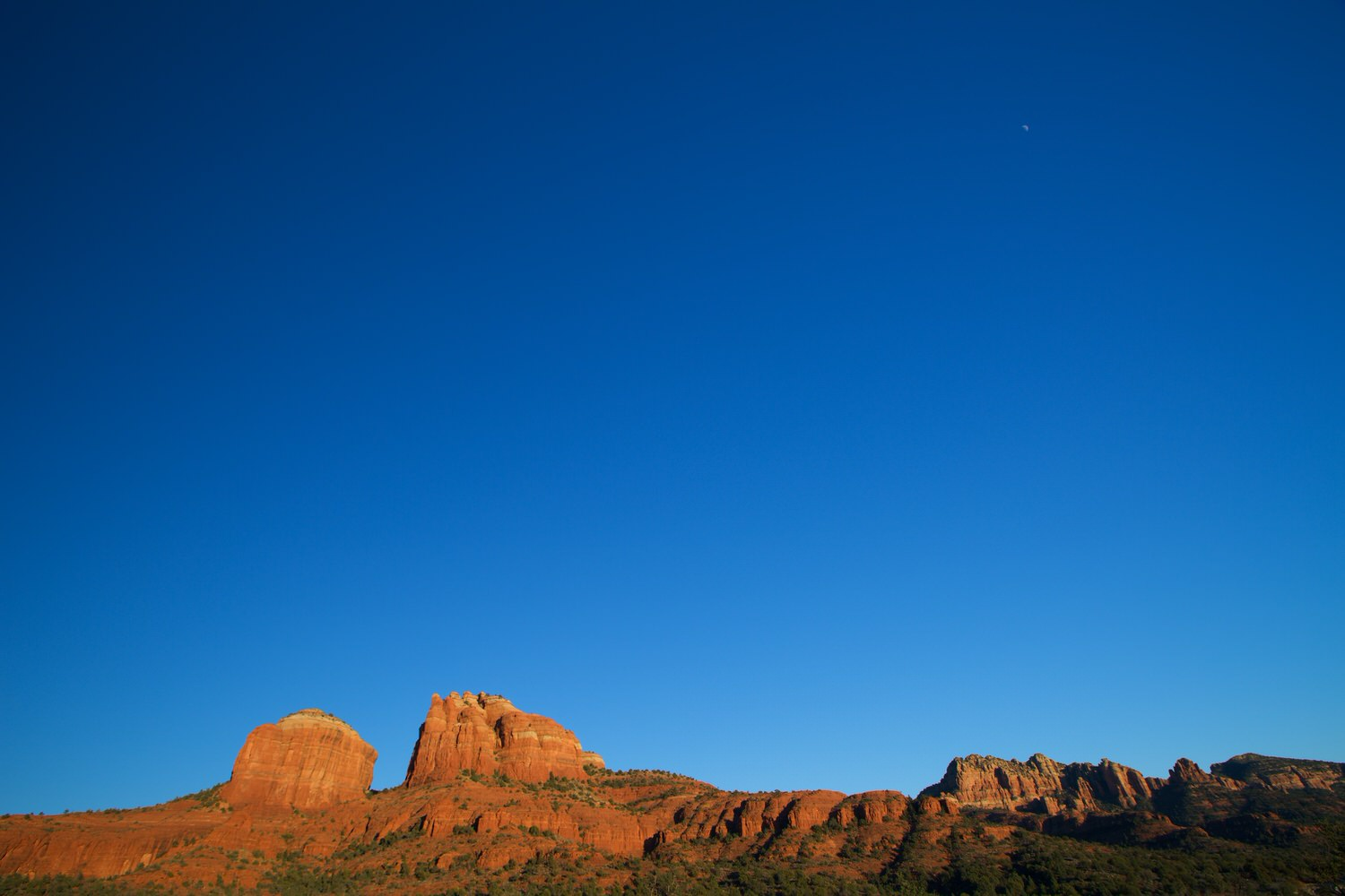 Moonrise over Cathedral Rock, Sedona, Arizona