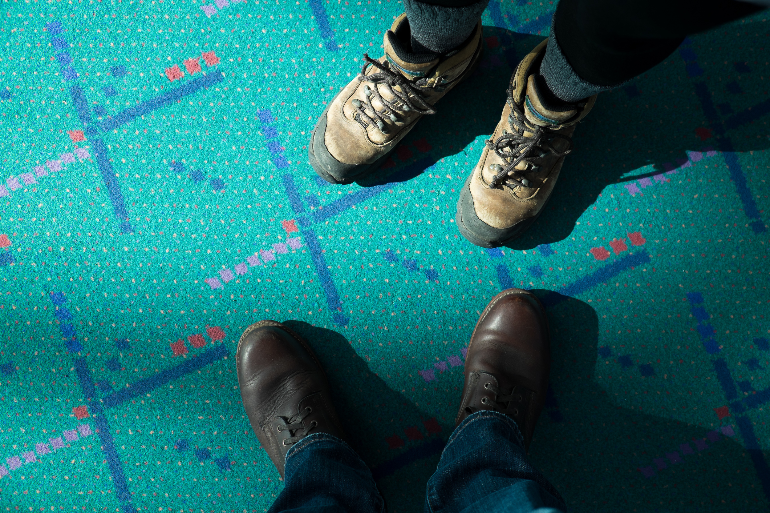 The infamous PDX carpet. Hopefully they don't replace all of it in the remodel.