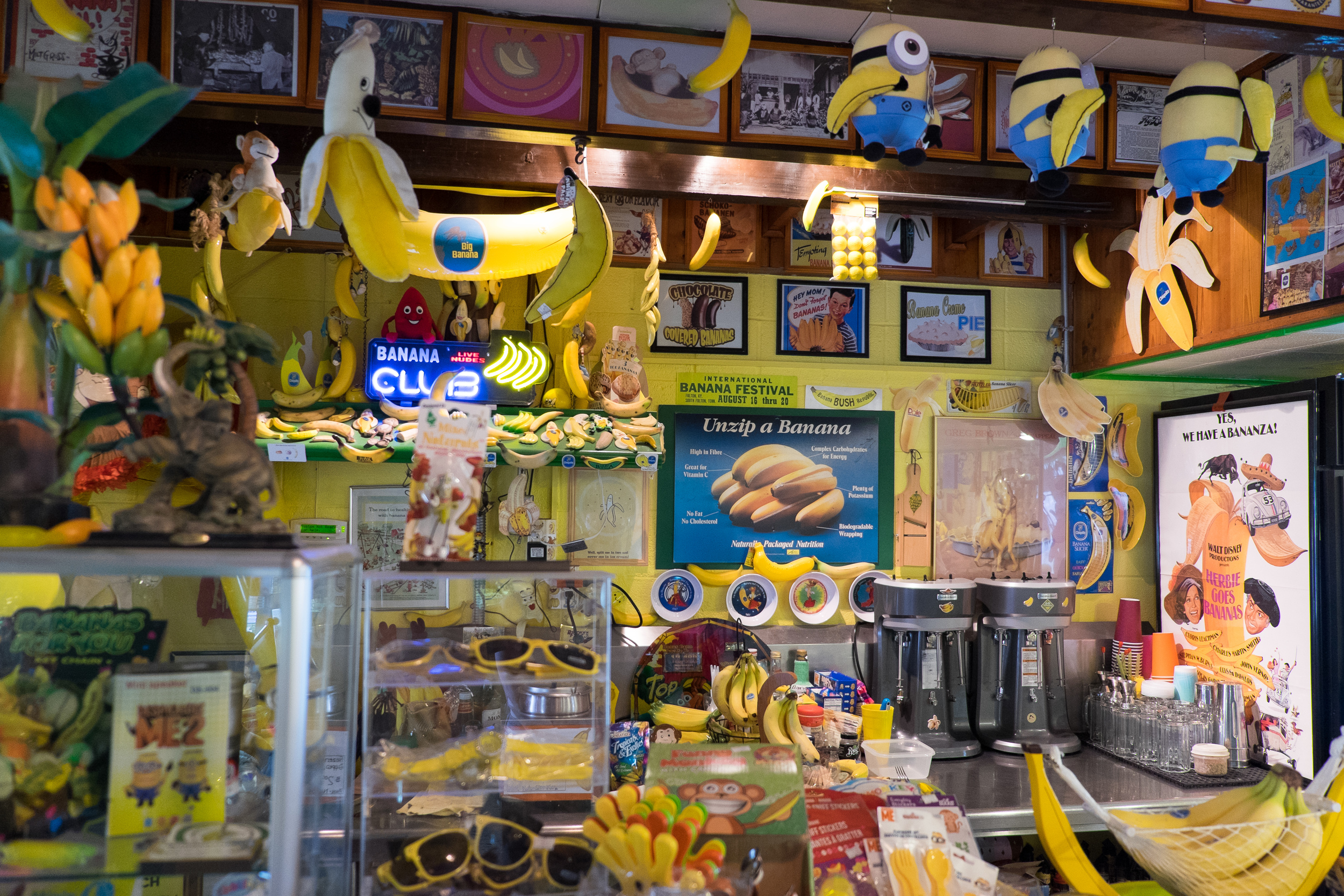 The next day, we hit the  International Banana Museum  in Mecca. I've never seen so many bananas in one place.