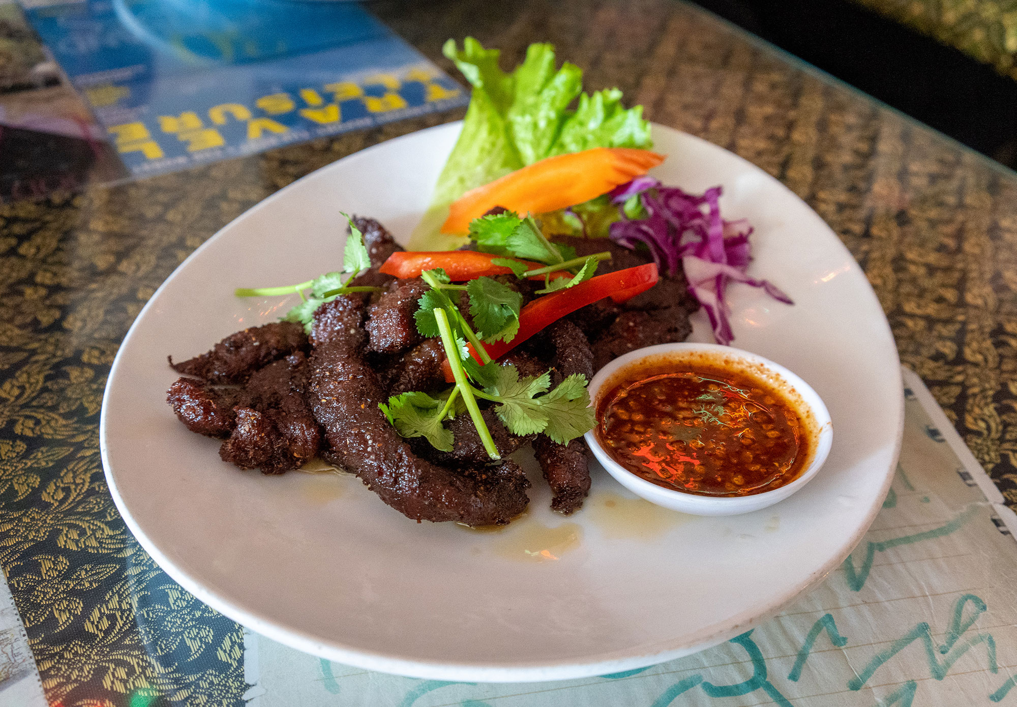 Crying Tiger: Marinated grilled beef with spicy sauce