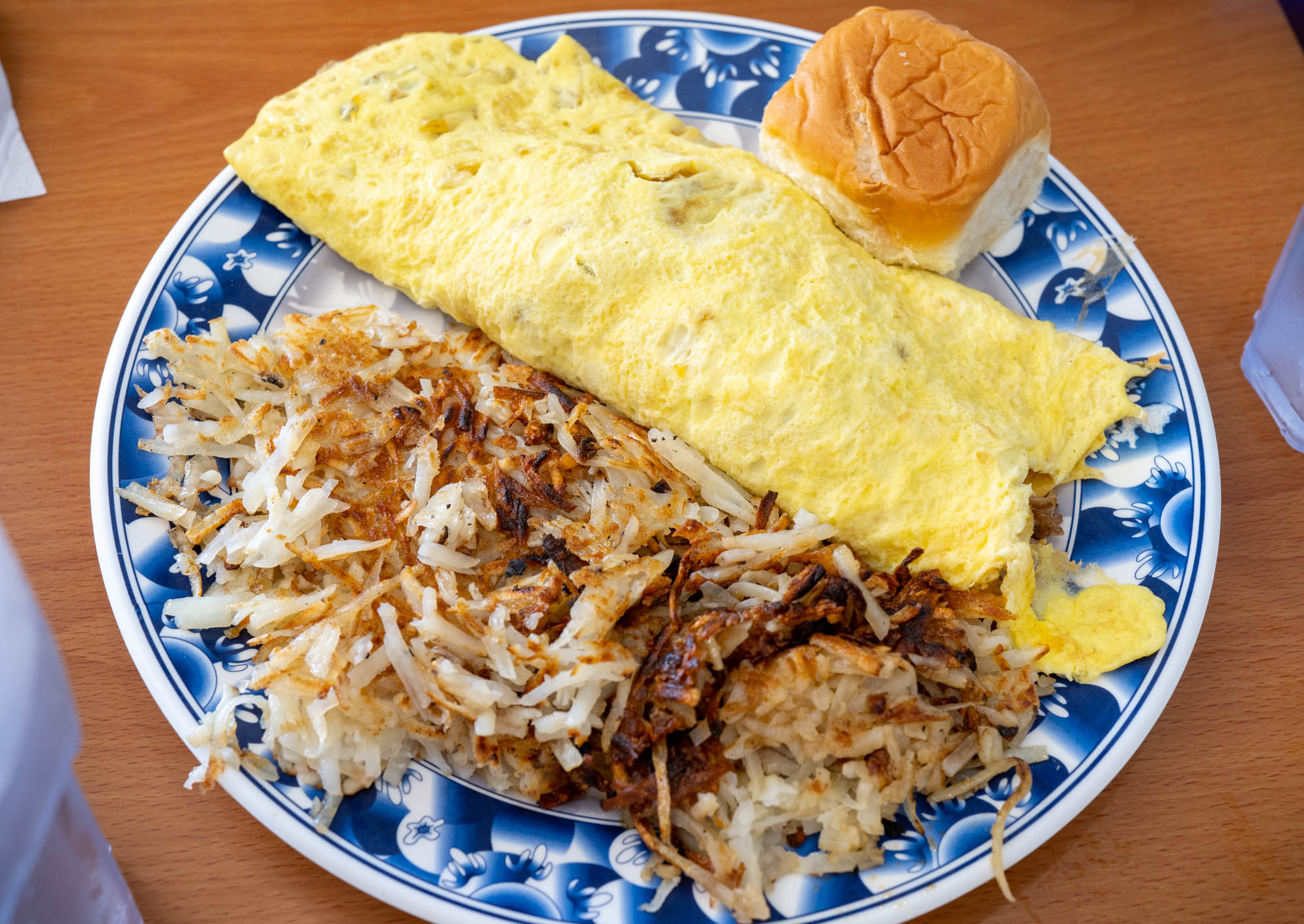 Kalua Pork Omelette with hash browns