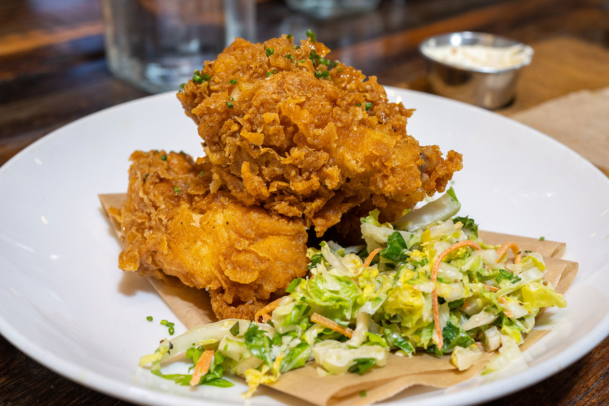 Truffle Honey Laced Fried Chicken