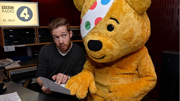 Teaching Pudsey to read The Shipping Forecast