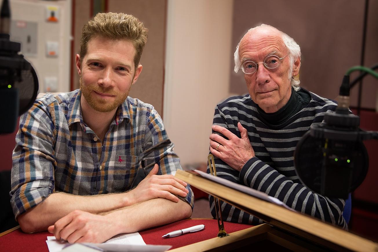 Recording  Poetry Please  at BBC Britol (Photo: Tim Key)