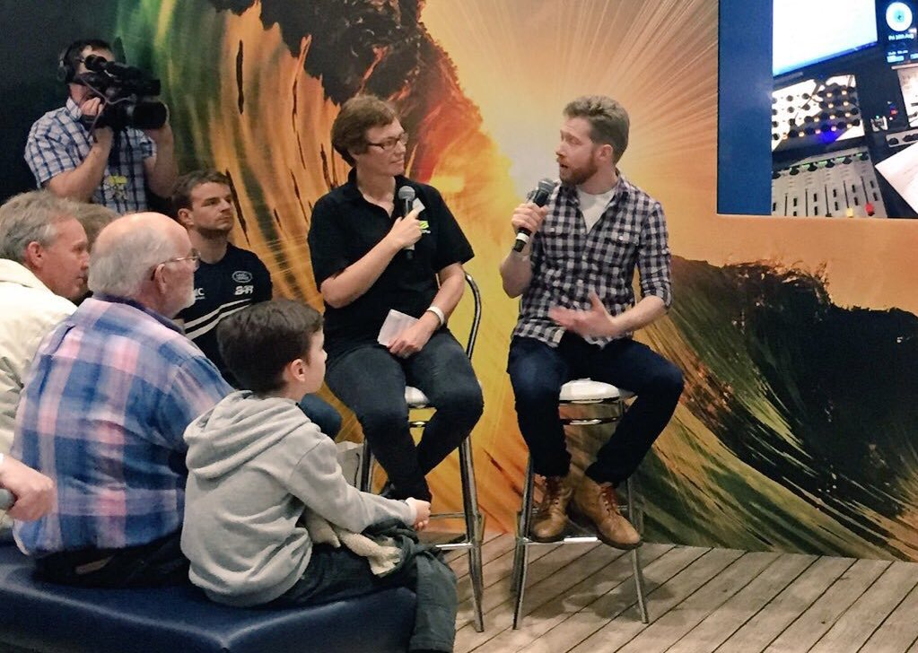Penny Tranter (MET Office) and Zeb Soanes at the 2016 London Boat Show