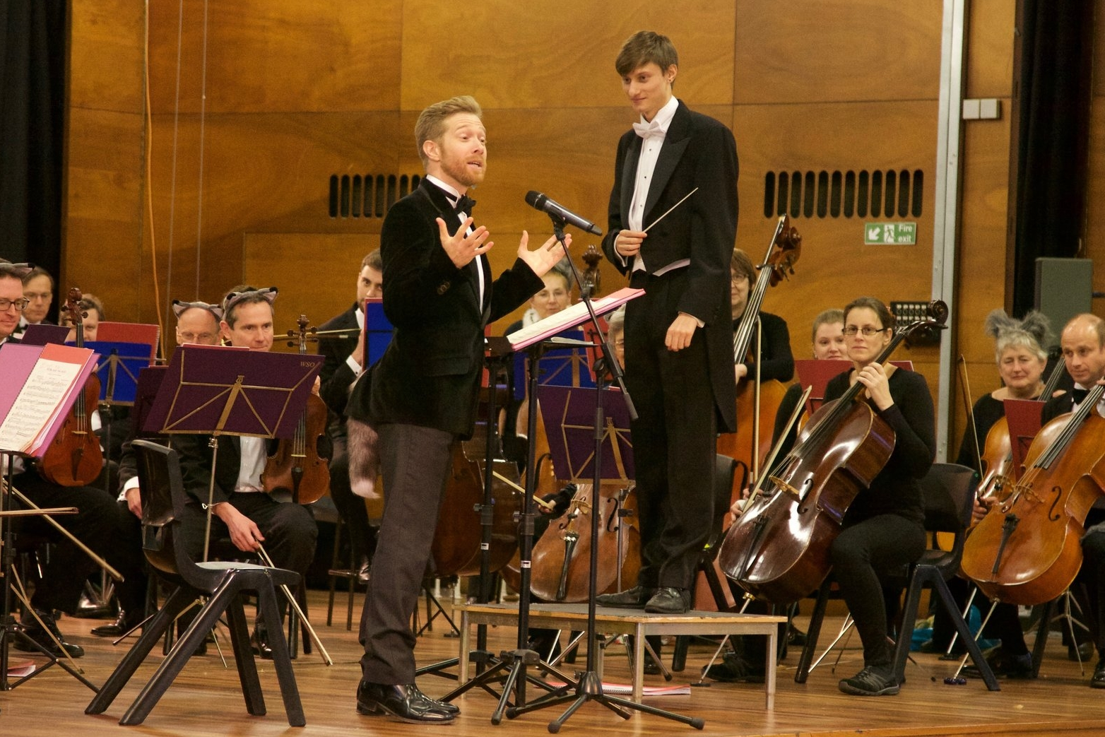 Zeb SOanes and Leo Geyer performing  Peter and the Wolf