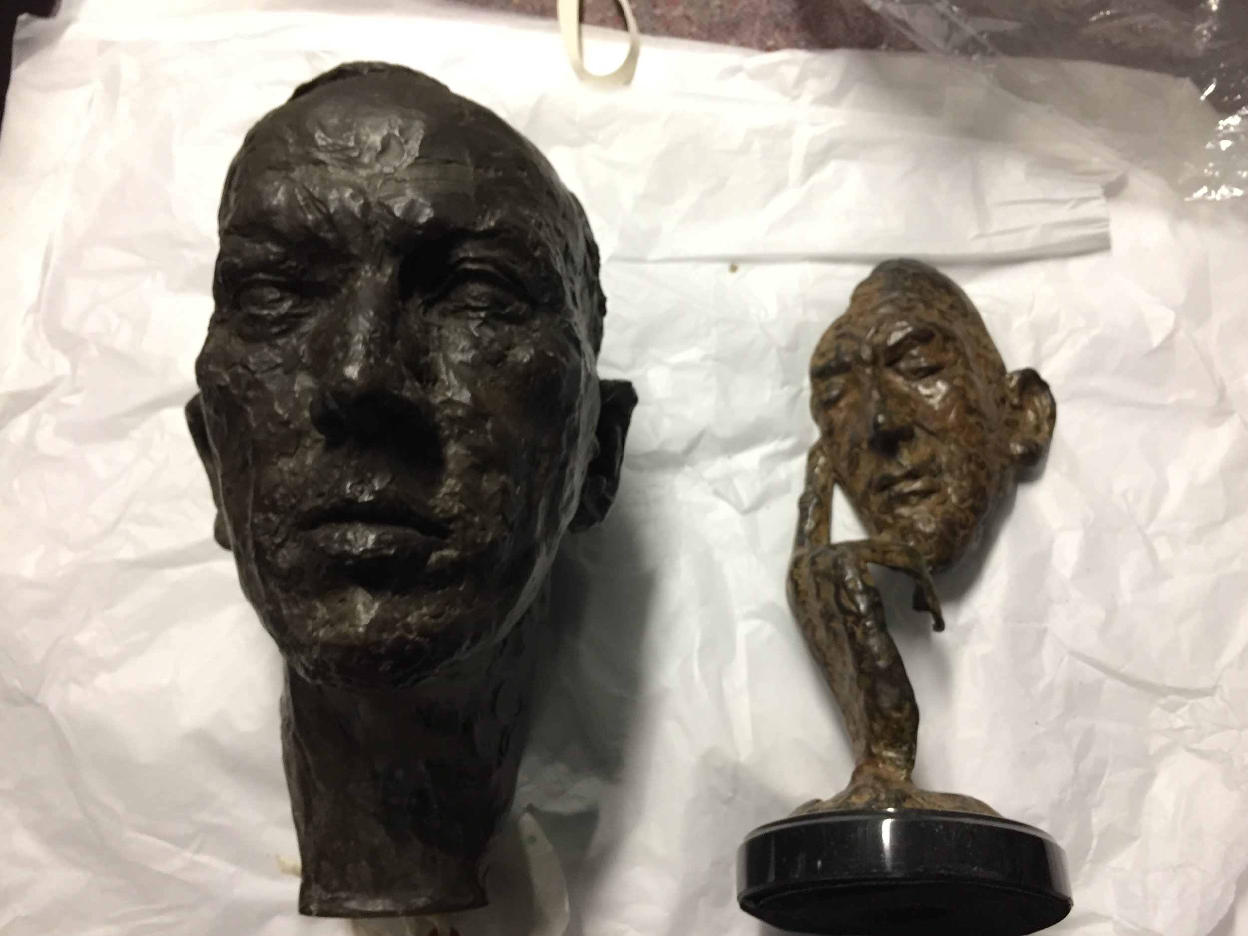 Comparison of Busts at National Portrait Gallery Archive