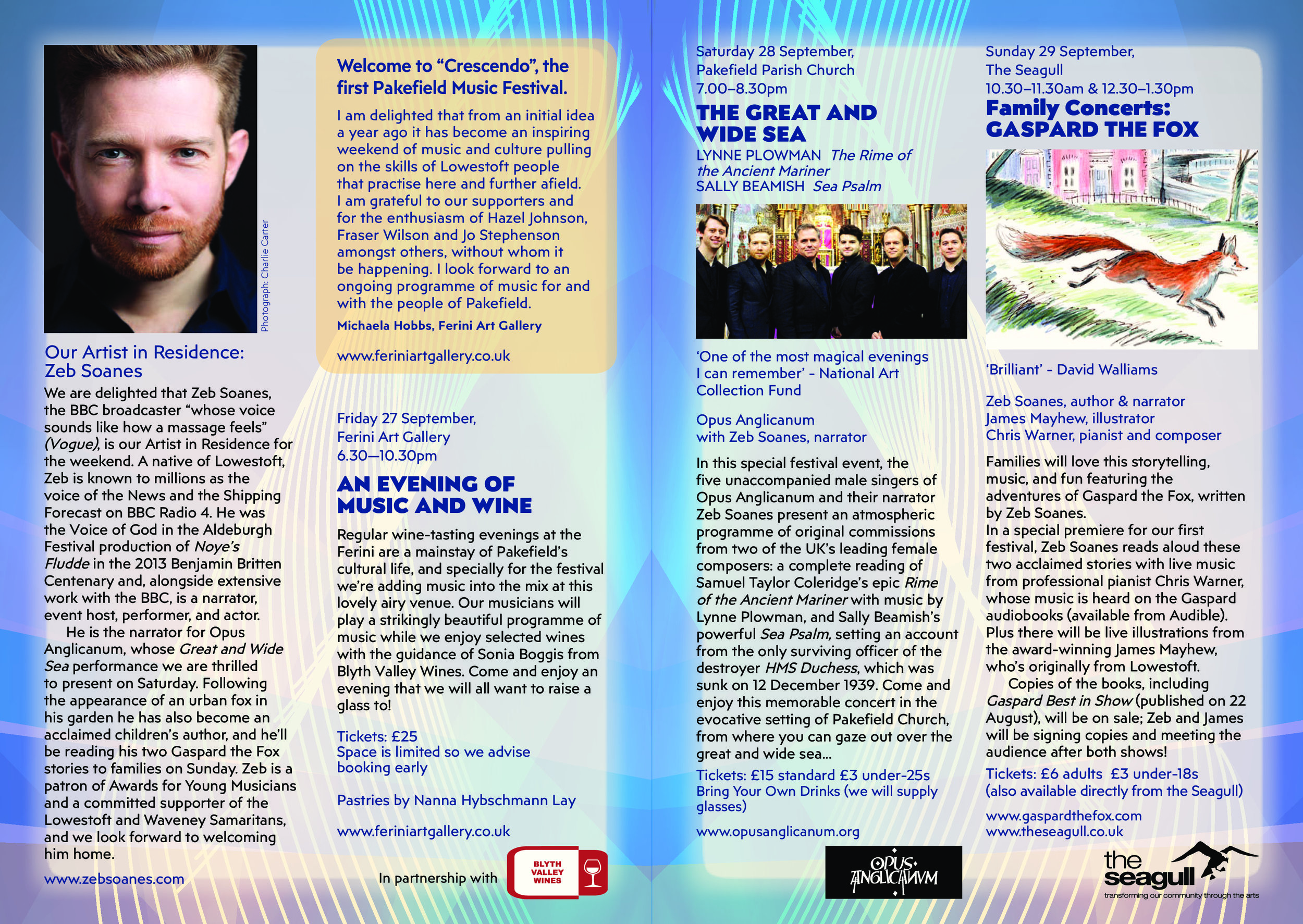 Click picture to enlarge festival brochure