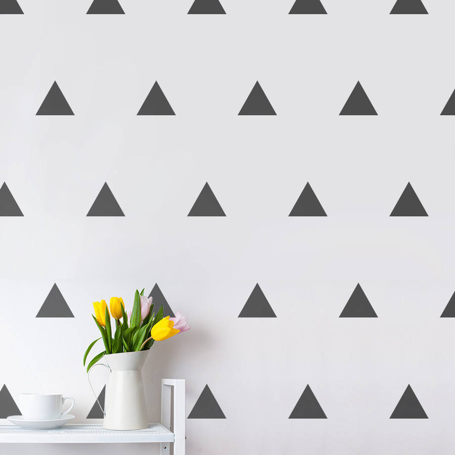 Triangles Wall Sticker Set by Making Statements/NOTHS - £15