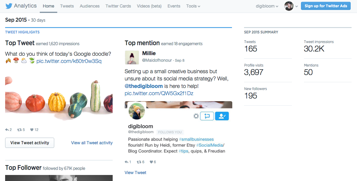 Twitter Analytics for Small Business