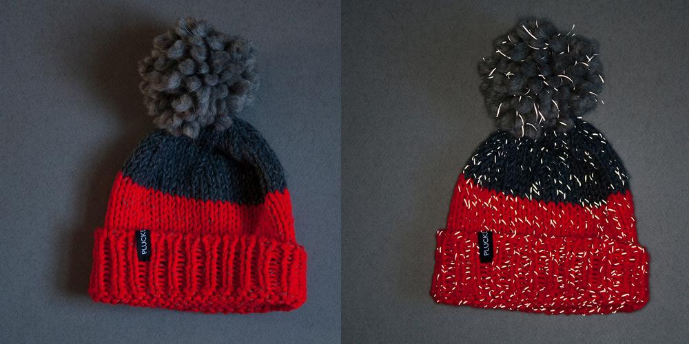 Pluck'd Designs reflective knitwear
