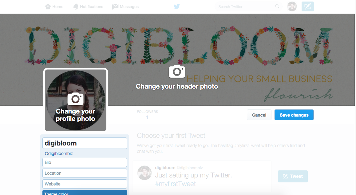 Small business Twitter tutorial - choosing an effective header image