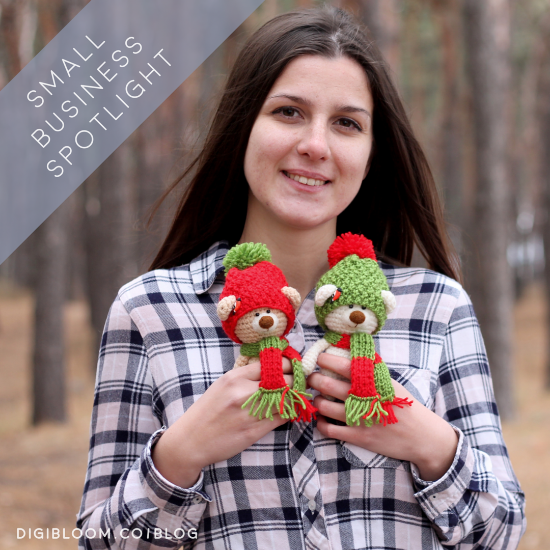 Digibloom Small Business Spotlight interview with Vira from Knitted Story