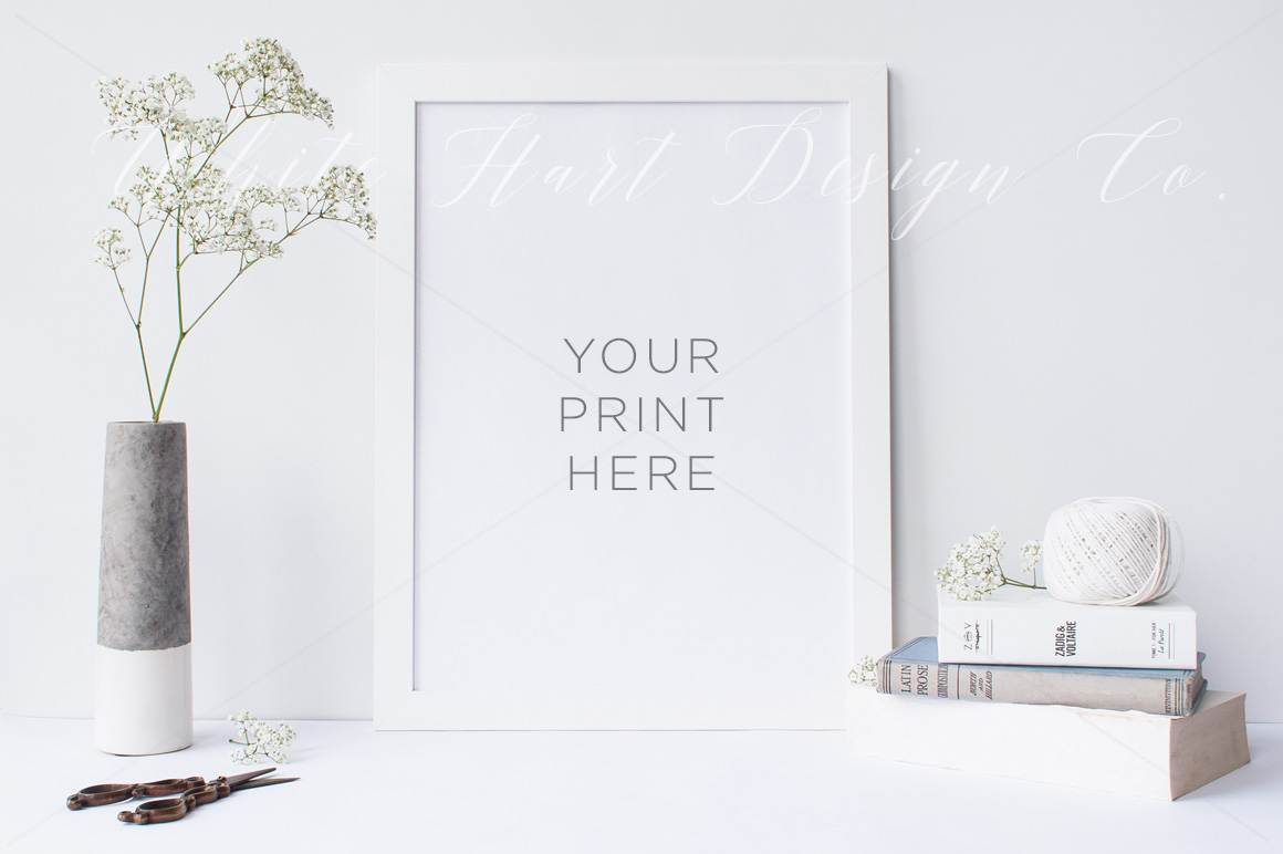 Example of product mockup for your print design -  by White Hart Design Co.
