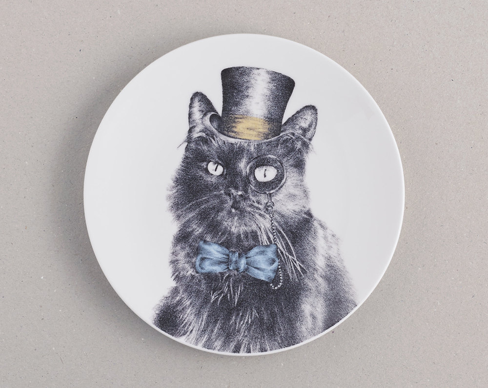 kat and monocle cat plate.jpg