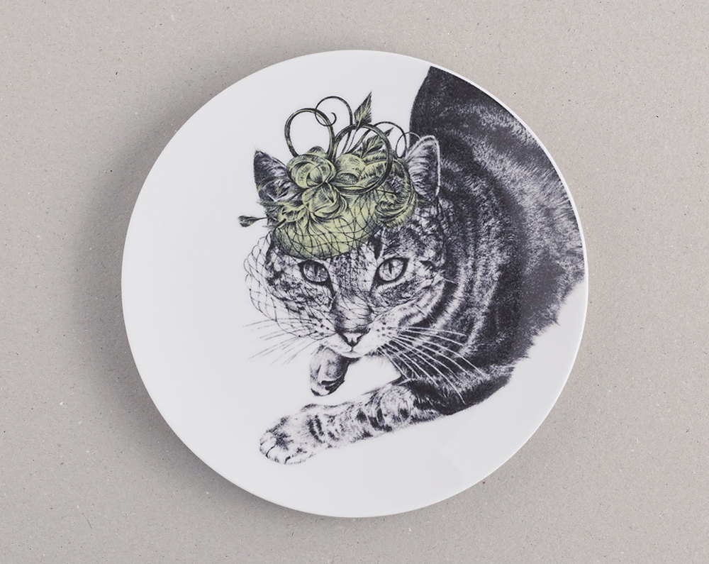 kat and monocle cat with hat plate.jpg