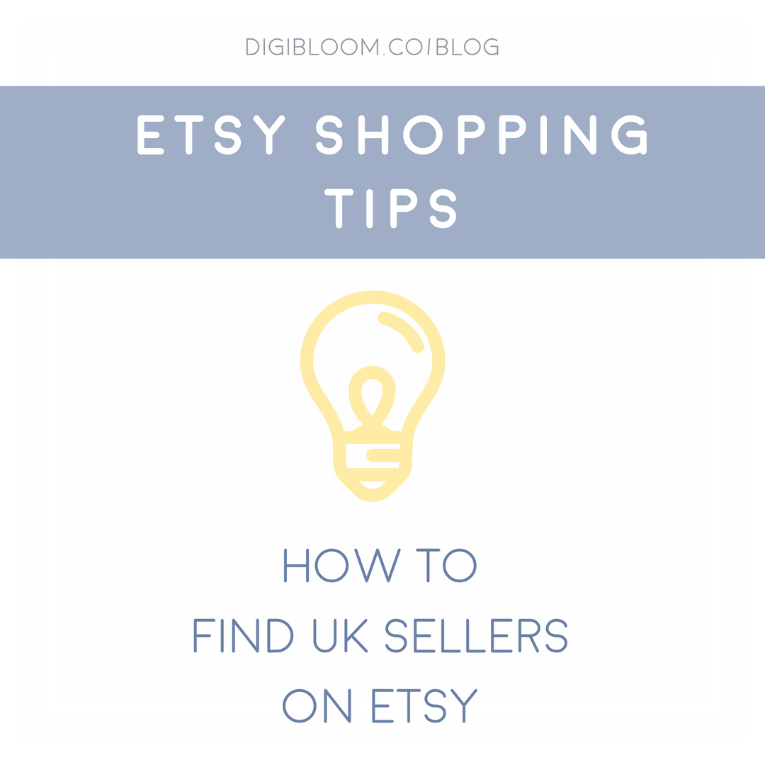 How to find UK shops on Etsy - shop local and filter by country.