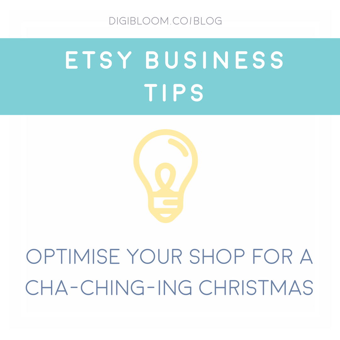 Etsy tips for the Christmas holiday season by Digibloom