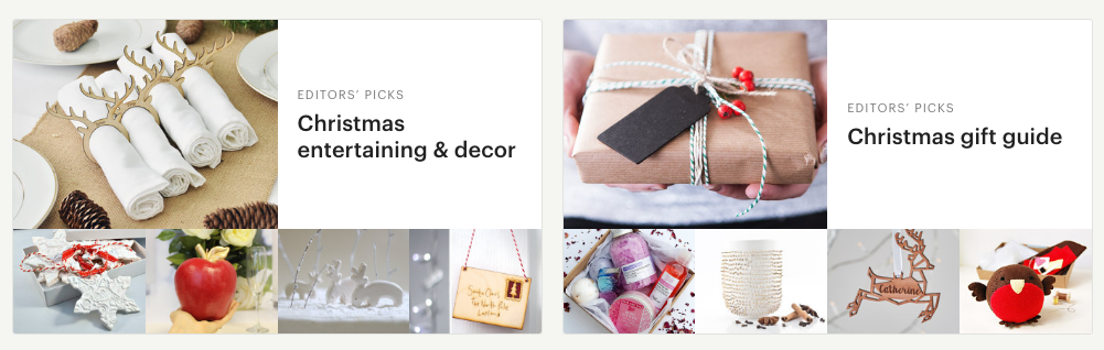 Use Etsy's Editors' Picks filtered searches to find the keywords they tag by