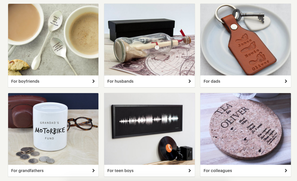 Etsy Editors' Picks filter search with tags