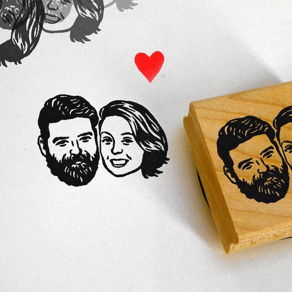Custom couple stamp
