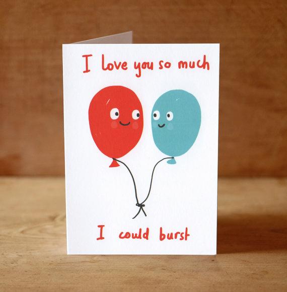 Valentine balloon card