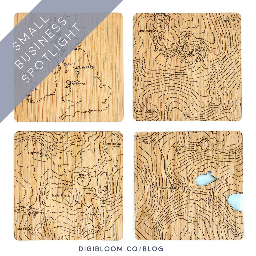 In the Small Business Spotlight: Debs Slater - designer/adventurer based near Blackburn, invites a behind-the-scenes peek into her brand of laser cut wood and acrylic gifts inspired by the great outdoors!