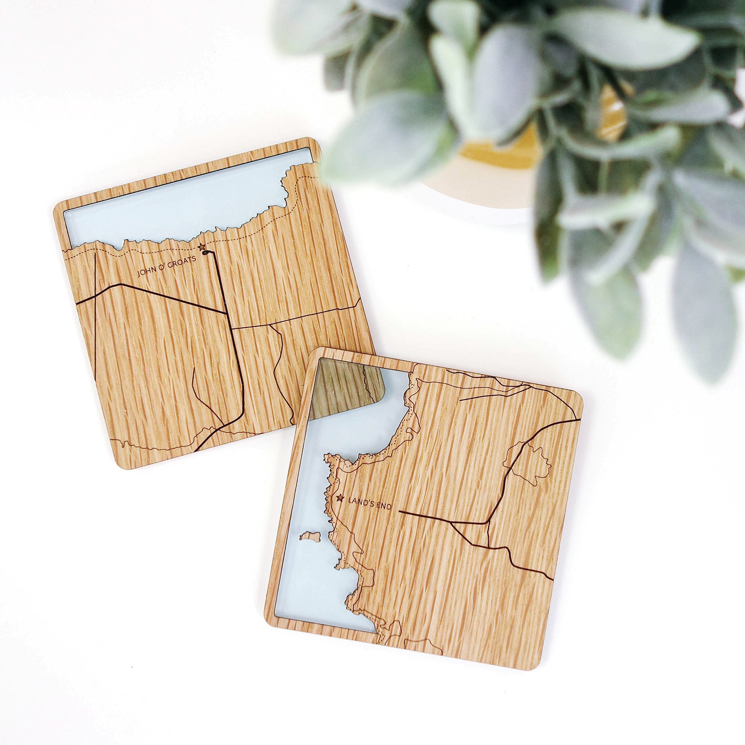 Land's End to John o' Groats Contoured Coasters