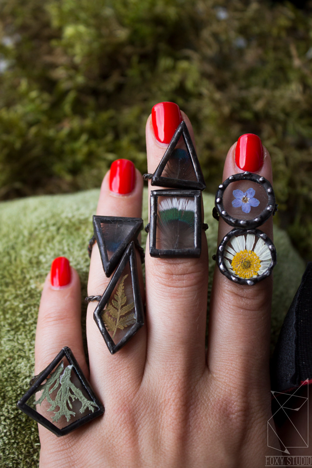 Glass nature rings