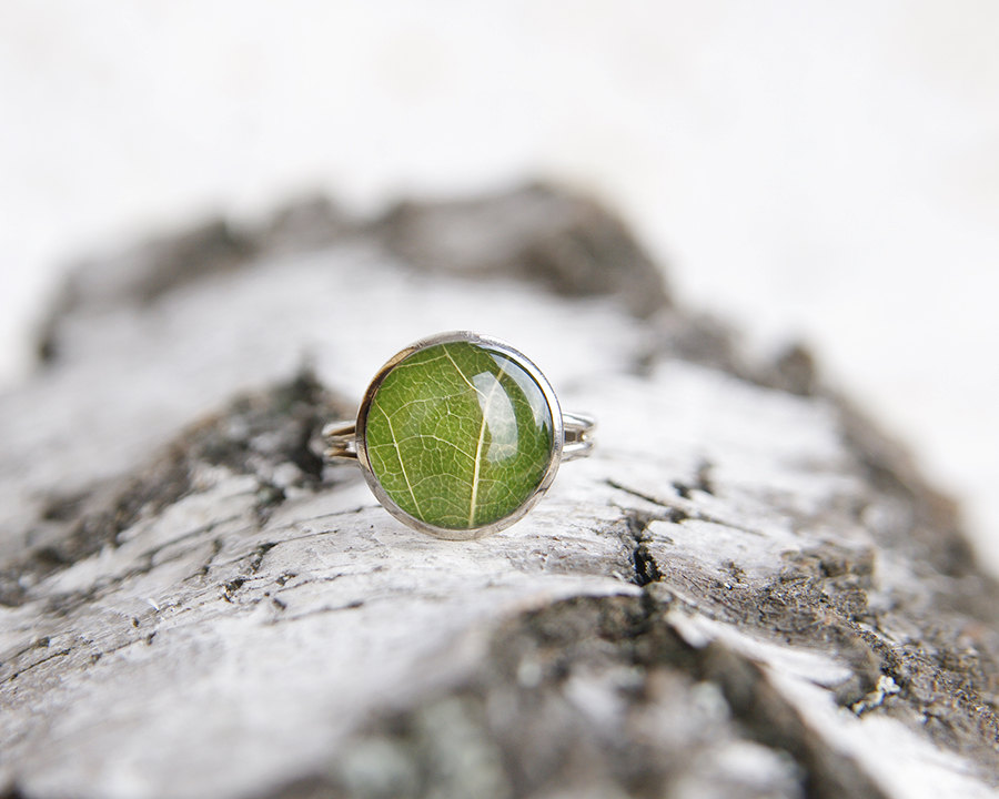 Real leaf ring