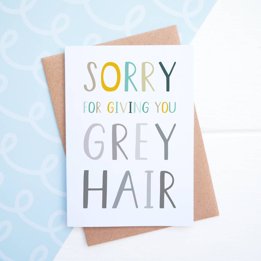 Grey hair card